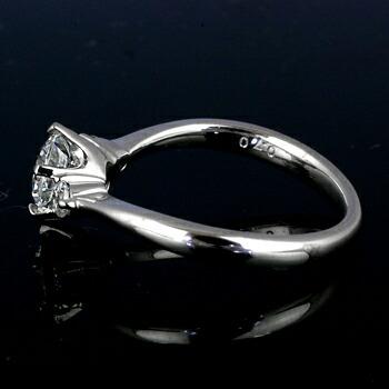エンゲージリング6本爪空枠0.7カラットダイヤモンド用【PT900】クリックで写真が拡大します