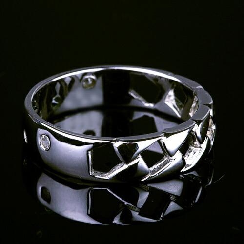 ダイヤモンド2ウェイリング【K18Wg】クリックで写真が拡大します