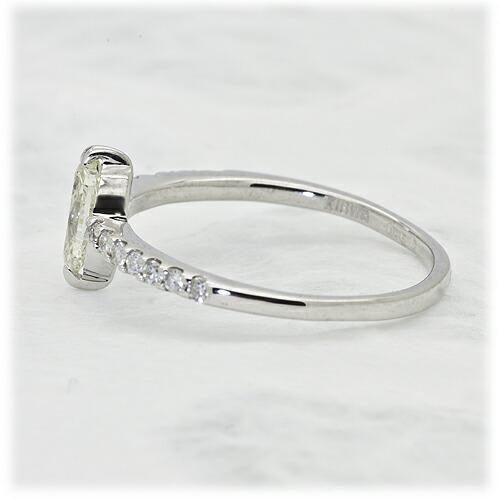 0.5ct ライトイエローダイヤモンドリング【K18Wg】クリックで写真が拡大します
