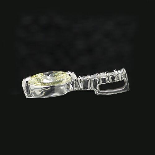 ライトイエローダイヤモンドペンダント【K18Wg】クリックで写真が拡大します