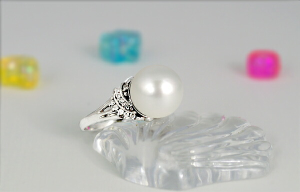 白蝶真珠11ミリ K18Wg