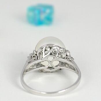 クリックで写真が拡大します 白蝶真珠11ミリ K18Wg