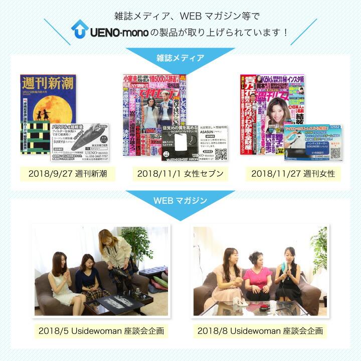 雑誌メディア・WEBマガジンでUENO-monoの製品が取り上げられています!