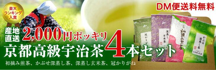 受賞茶師の京都高級宇治茶の4本セット