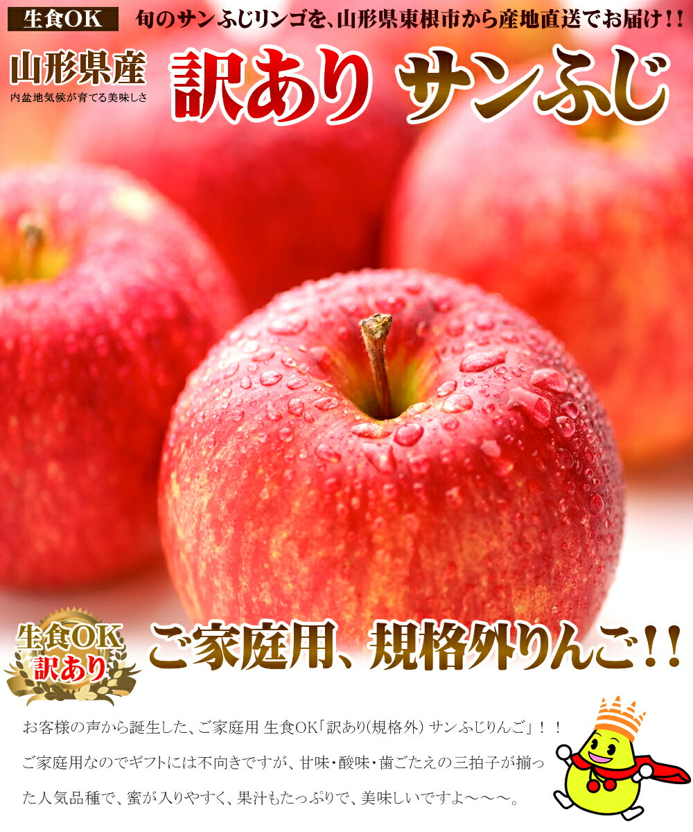 山形県産 りんご ご家庭用 サンふじ