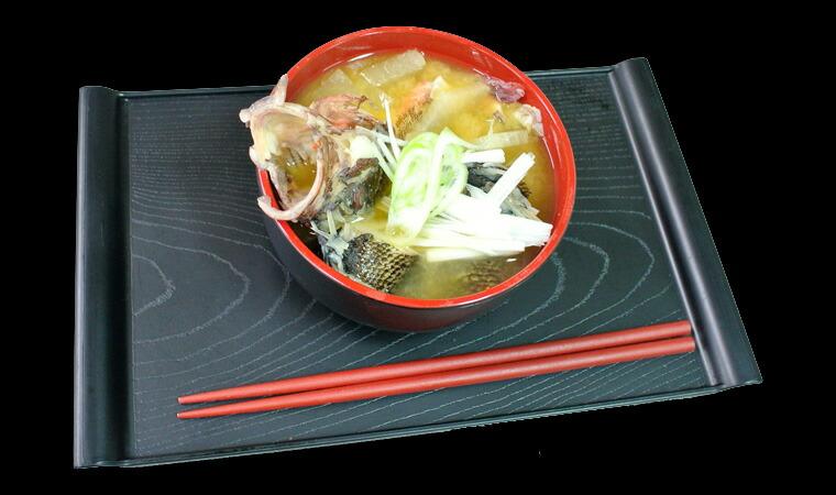 壱岐産の天然かさごの味噌汁