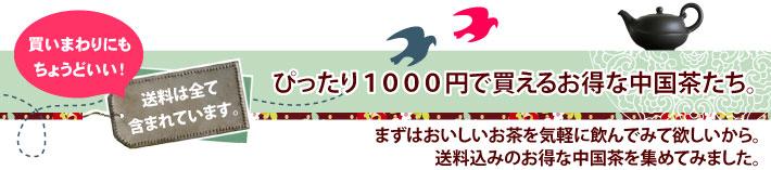 送料無料ぴったり1000円のお得な中国茶たち