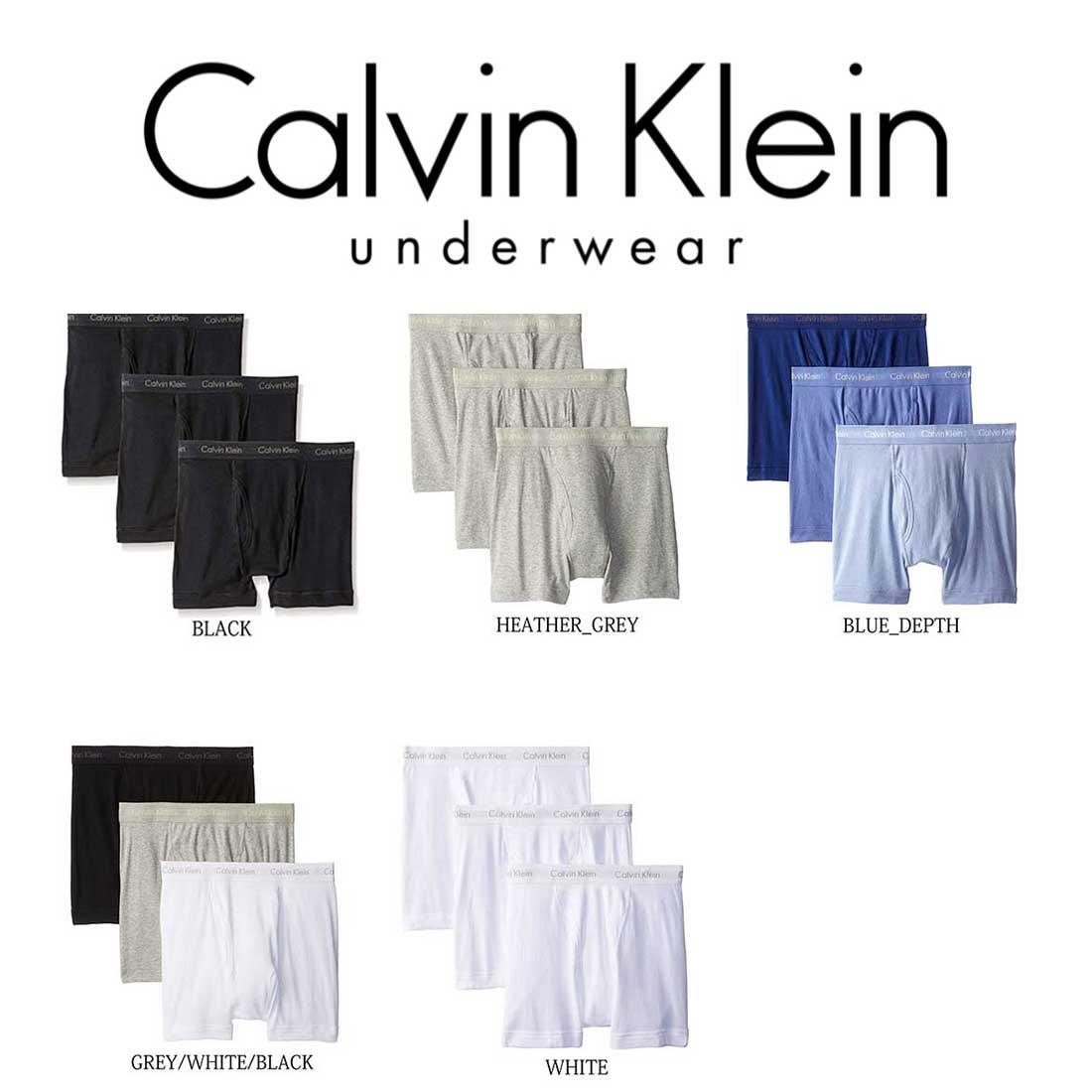 Calvin Klein(カルバンクライン)ボクサーパンツ 3枚セット お買い得 パック メンズ 下着 NU3019
