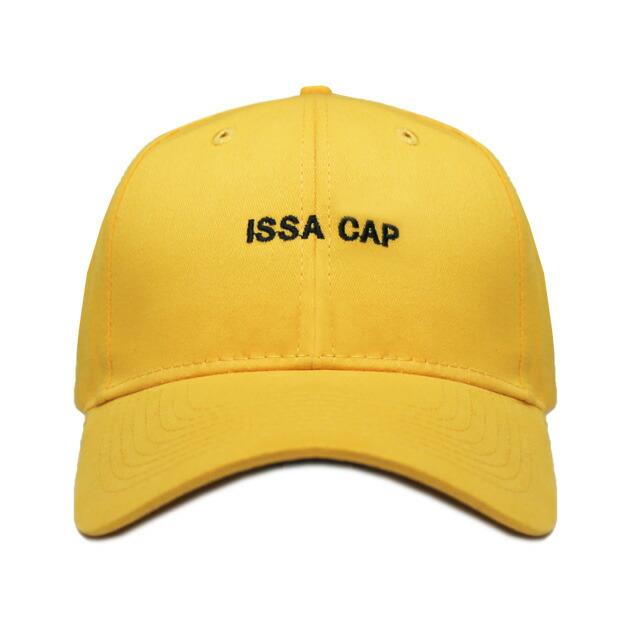 WALF (wolf) ISSA CAP (YELLOW) [6 panel cap snapback Capps trap back cap  baseball cap brand lap hip-hop street men gap Dis unisex hat UNISEX]  [yellow]