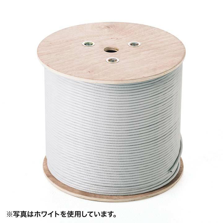 LANケーブルCAT6白青カテゴリ6CAT6UTP単線ケーブルのみ500mサンワサプライ