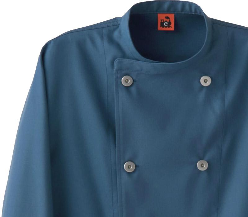 スティーリーコットン男女兼用 コックコート QA7367 二重織 セブンユニフォーム