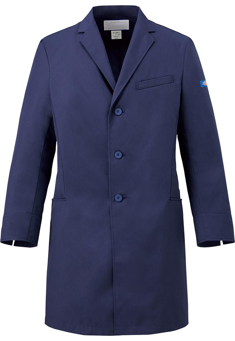 ディッキーズ医療白衣 男性用シングルコート 1541NP ジアポプリンフォークFOLK