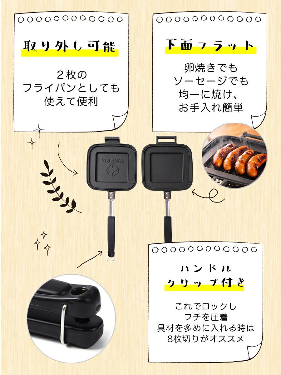 ホットサンドメーカーJP 商品説明2