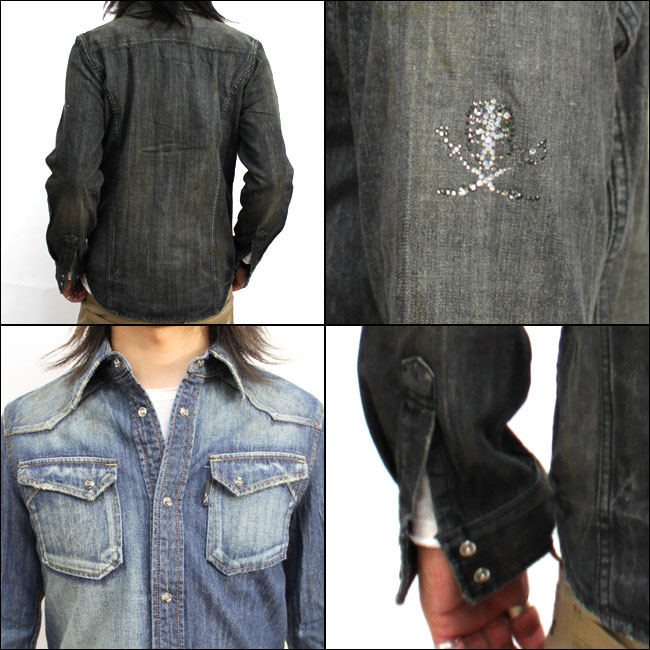 【楽天市場】ABORDAGE(アボルダージュ)Vintage Wash Denim Shirt (ad123-4140 ...