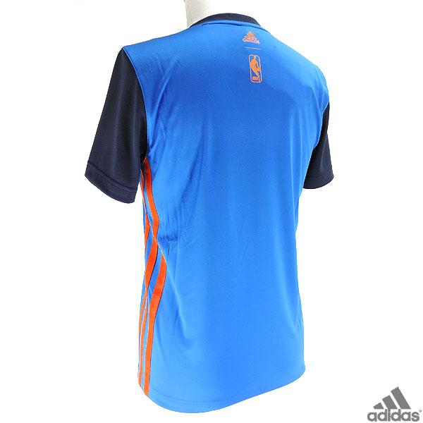 NBA サンダー プラクティスシャツ Tシャツ NBA THUNDER バスケットボールウェア adidas ITI72 半袖Tシャツ