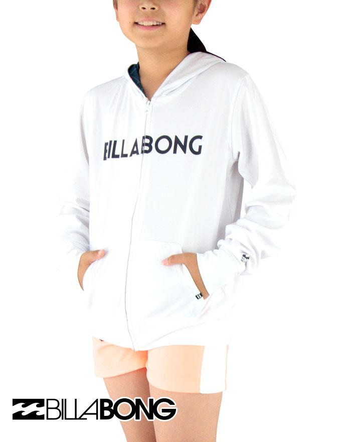 セール BILLABONG(ビラボン) キッズ 長袖ジップラッシュパーカー【90~150cm】AG015852 WHT【メール便】ラッシュガード