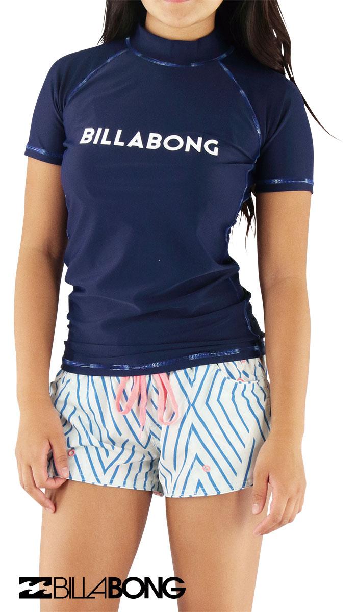 セール BILLABONG AH013864 NVY ビラボン 半袖ラッシュガード レディース 水着 紫外線対策 日焼け予防