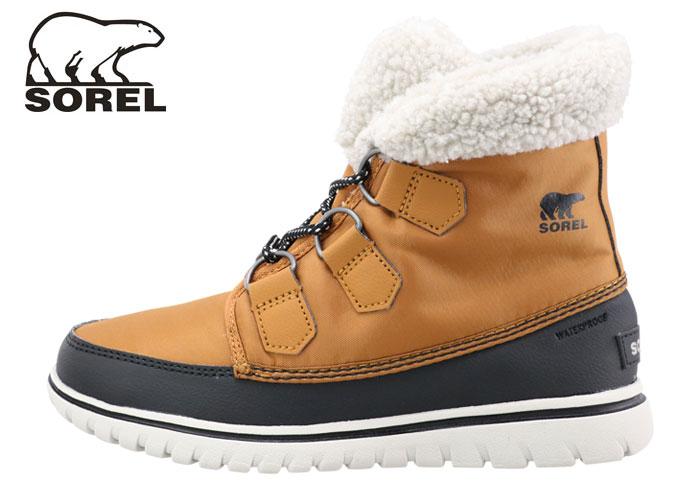 ソレル レディスブーツ 防水シューズ 耐滑シューズ ボア キャメル コージーカーニバル SOREL NL2297