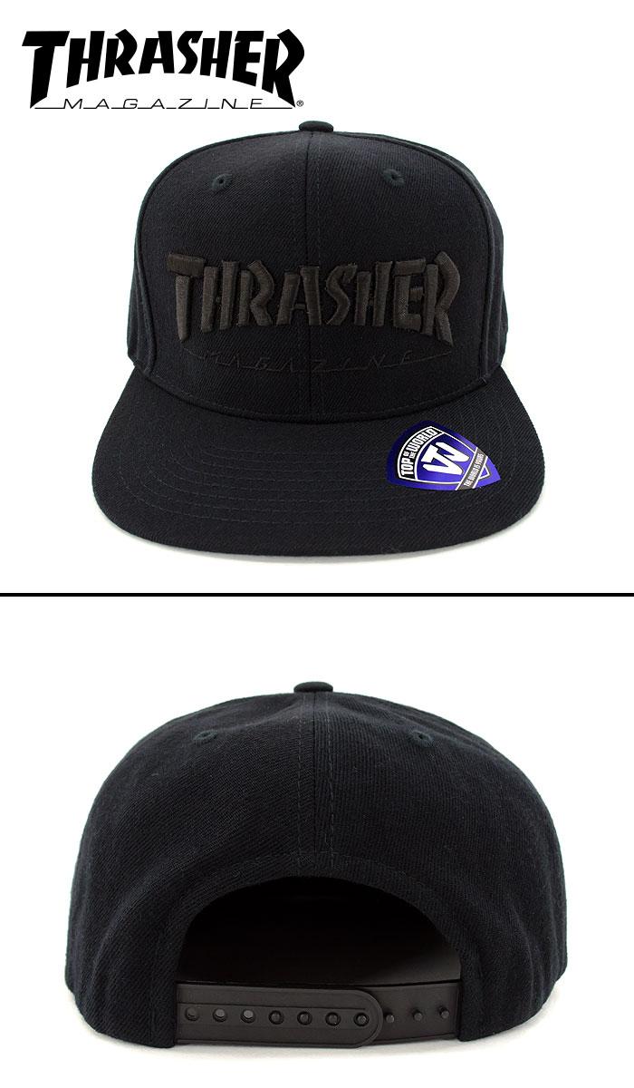 CAP スナップバック キャップ スラッシャー THRASHER 帽子 スケート SK8 ストリートブランド 15TH-C50