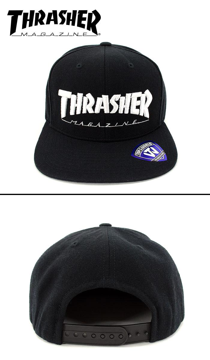 THRASHER 帽子 スケート SK8 ストリートブランド 15TH-C50 CAP スナップバック キャップ スラッシャー