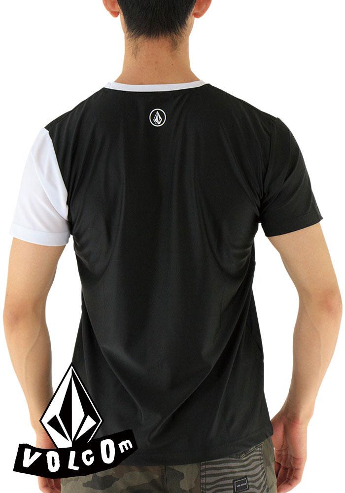 SALE ボルコム ラッシュTシャツ 半袖 ラッシュガード メンズ Tシャツ 黒 VOLCOM N01117JB