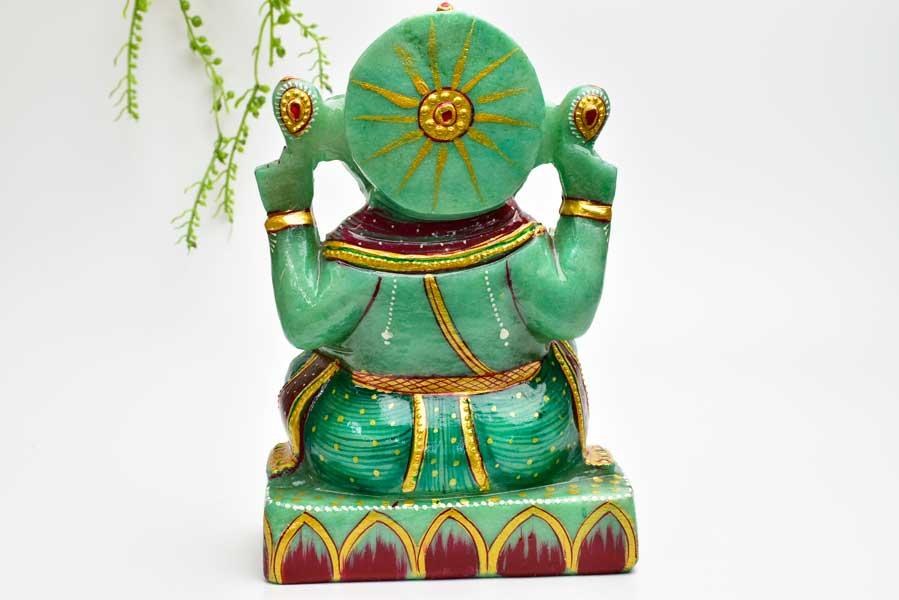 ガネーシャ 置物 ガネーシャ神 お守り アベンチュリン 天然石 パワーストーン