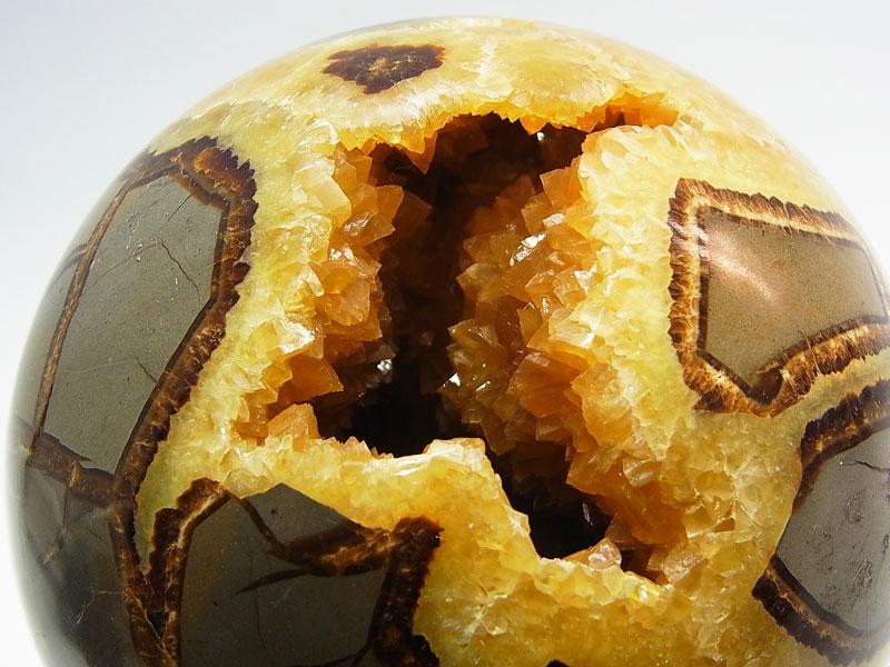 セプタリアン ユタ州産 カルサイト 丸玉 スフィア アラゴナイト ベントナイト 置物 天然石 パワーストーン