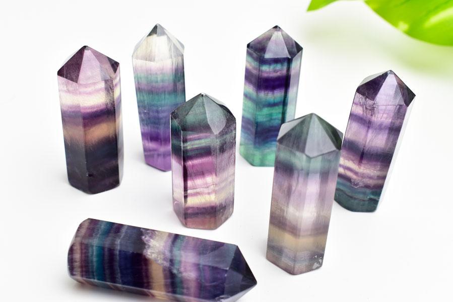 フローライト 蛍石 タンブル ポイント 六角柱 ポリッシュ 天然石 パワーストーン