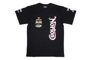 【ajito】Norton ノートン Norton Racewear T-shirt レースウェアロゴTシャツ ブラック 半袖 プリント メンズ 正規取扱マーチャンダイズアイテム バイク