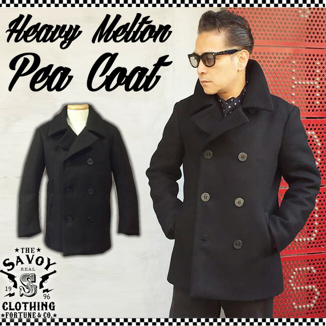 Heavy Melton Pea Coat