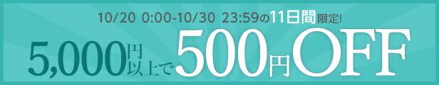 5000円で500円OFFクーポン