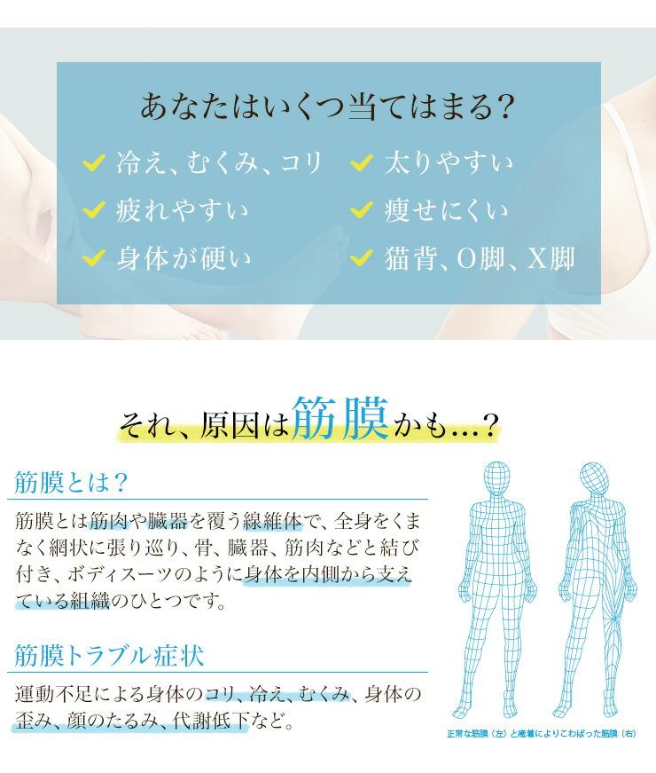 冷え、むくみ、コリ、太りやすい、痩せにくい、疲れやすい、猫背、O脚、X脚の人に最適