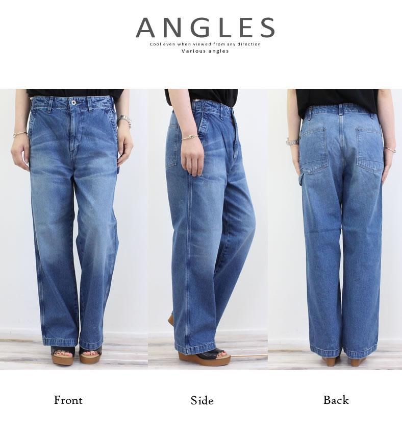 7e3608da6ef43 urbene  Domingo jeans DMG cotton gray denim wide work pants (13-808d ...