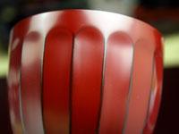 小吸椀 菊割 古代朱 側面