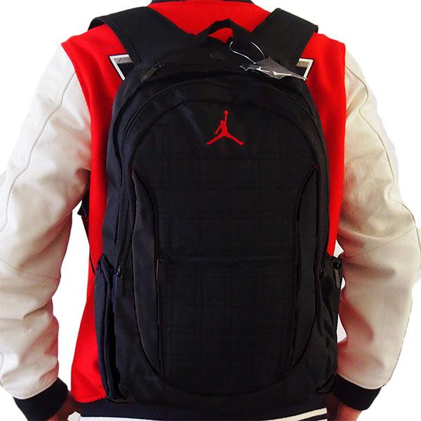 スラムダンクブラックJUMPMANロゴ入りバックパック Air Jordan 黒リュックサック 小物・ブランド雑貨 メンズバッグ 【楽ギフ_包装選択】