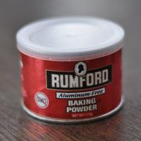 安心のために ラムフォード社のベーキングパウダー【アルミニウムフリー】大切な身体のためにも、心配になる物質が入った製品は使いません。【安心】ほんの少量だけ使用するベーキングパウダーにもこだわりをもっています。