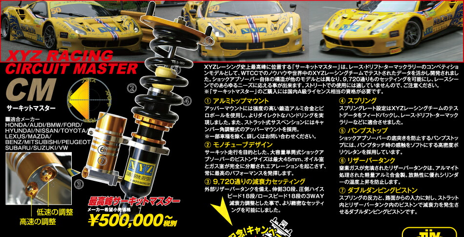 XYZ JAPAN 最高峰サーキットマスター
