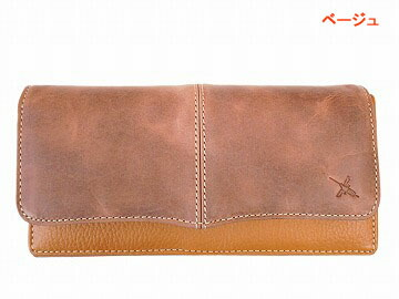 097751aa9635 AIN SOPH アインソフ 牛革 カブセ 長財布 カード30枚収納 DA499-HP