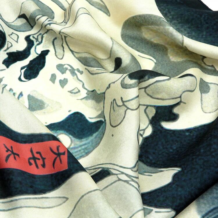 浴衣専門店うたたね楽天-日本製 メイドインジャパン 浮世絵 伝統美 シルク100% シルクスカーフ