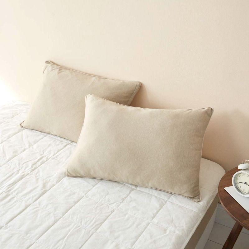 綿混ニット やわらか枕カバー