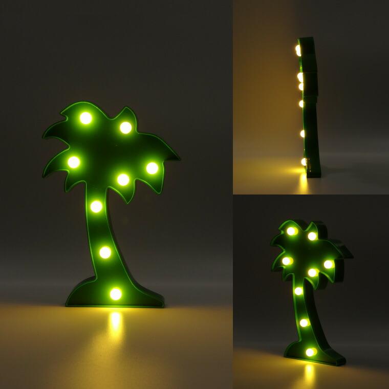 ヤシの木、パームツリー、グリーン、LEDライト、インテリアライト、デスクライト、スタンドライト、間接照明、インテリア雑貨、北欧雑貨、アメリカ雑貨