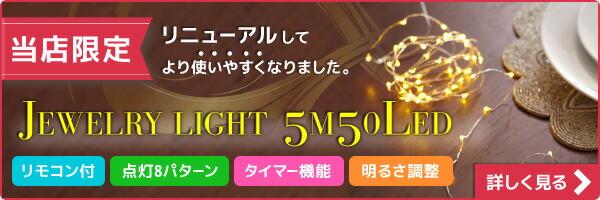 【電光ホーム限定商品】ジュエリーライト5m50球(リモコン付き)