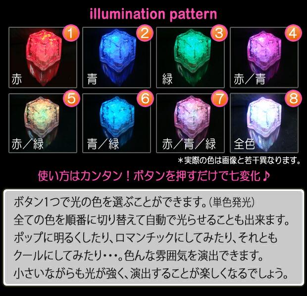 LEDキューブ  イルミネーションパターン