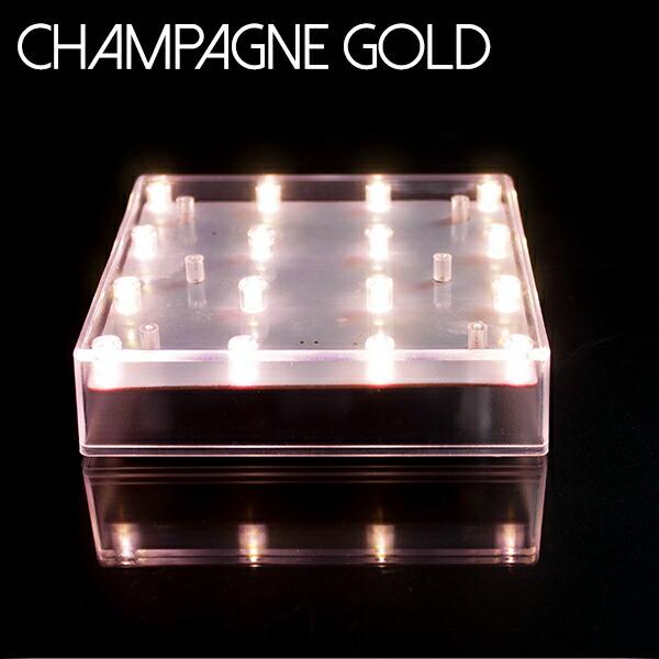 光るプレート シャンパンゴールド