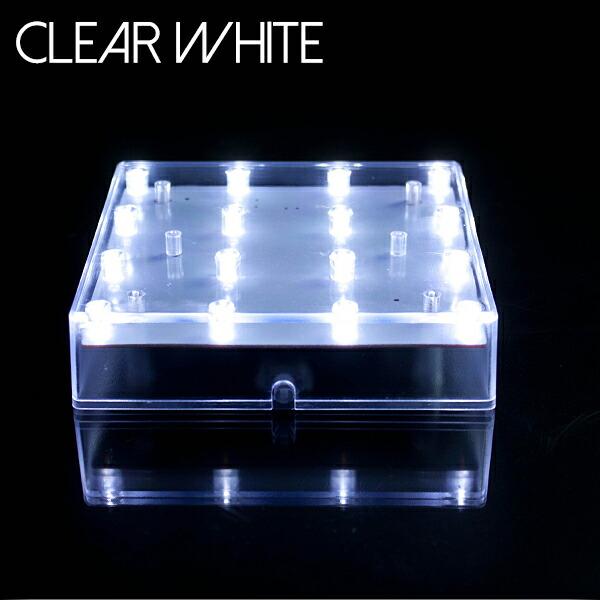 光るプレート クリアホワイト