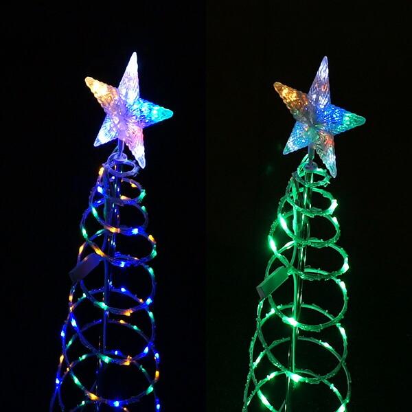 イルミネーション ツリー クリスマス ハロウィン 飾り ガーデン ライト ドレープ ガーデンツリー 庭 ベランダ パーティ 屋外 タワー