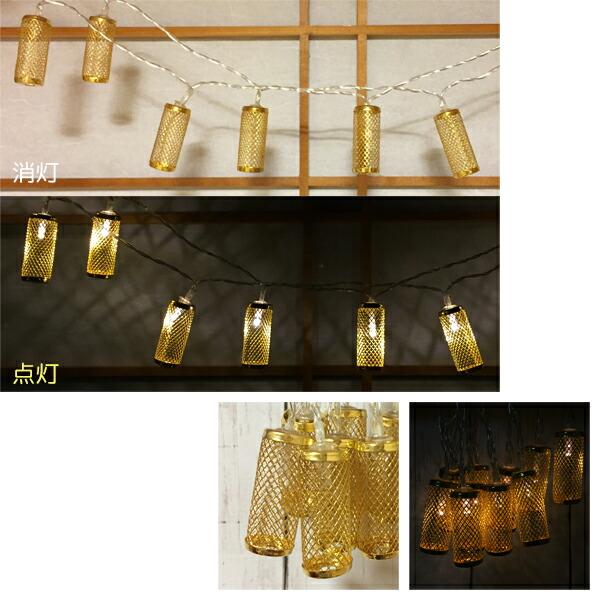 ガーランドライト イルミネーション 電池式 3m 電球 イメージ