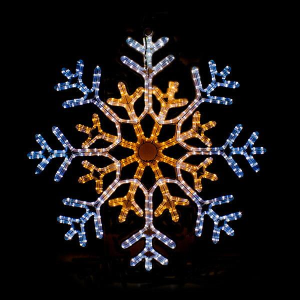 イルミネーション モチーフ 雪 SNOW 防水 屋外 フレーク 電飾 チューブライト 飾り付け 2Dモチーフ ライト ホワイト