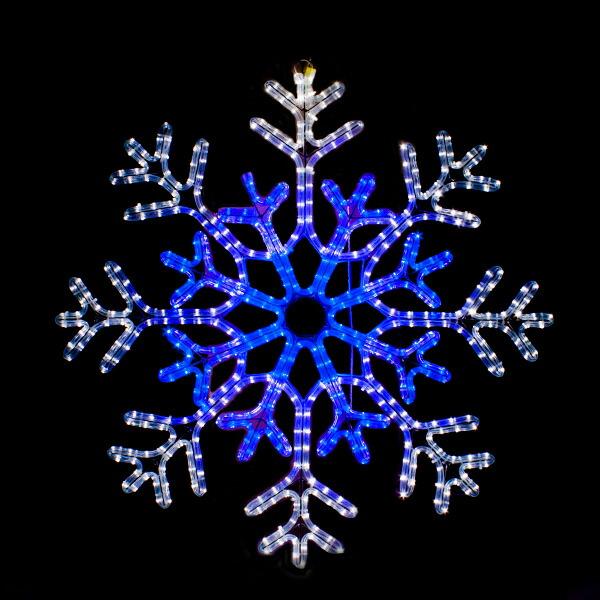 イルミネーション モチーフ 雪 SNOW 防水 屋外 フレーク 電飾 チューブライト 飾り付け 2Dモチーフ ライト ゴールド