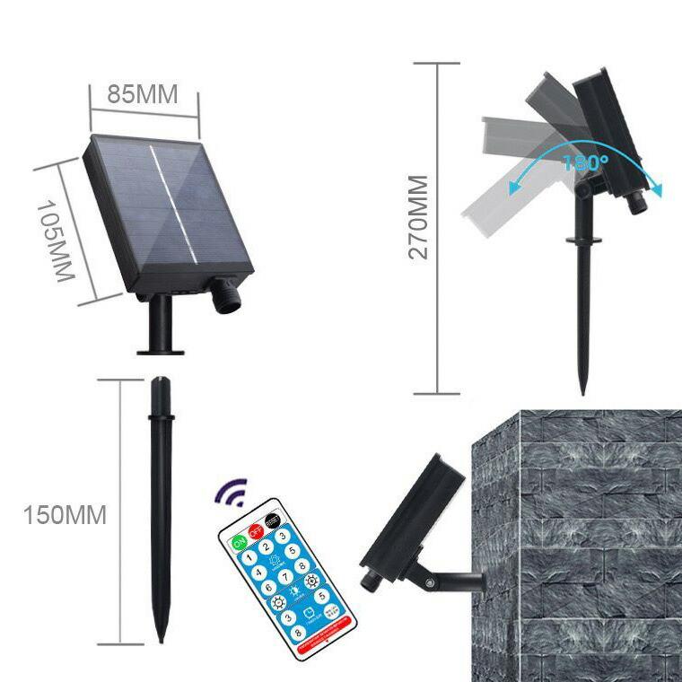 ソーラーパネルキット 電飾用 コントローラー リモコン付 DIY 汎用 イルミネーションライト 電飾 交換用